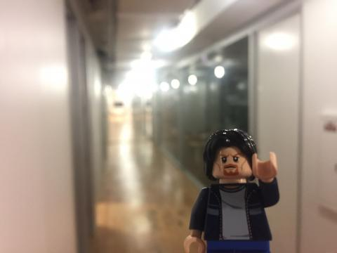 Lego Uncle Jim at the tech incubator