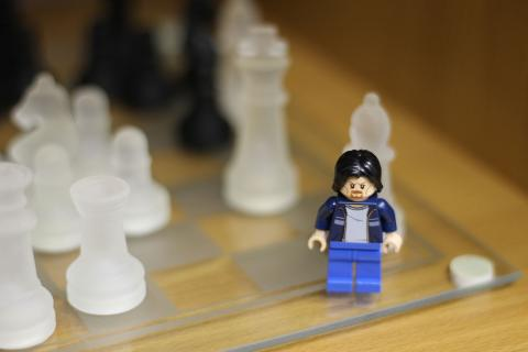 Lego Uncle Jim plays chess