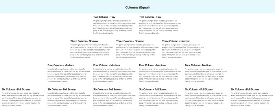 Bootstrap Paragraphs - Even Columns