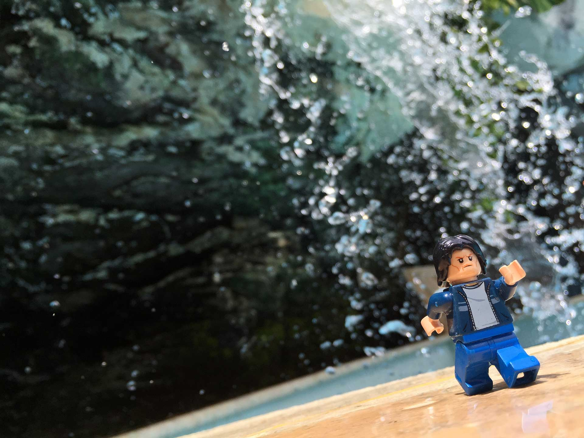 Lego Uncle Jim at the Waterfall